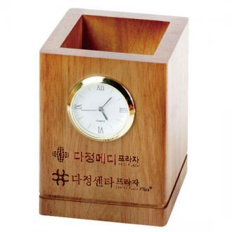 원목시계필통(다크러버)
