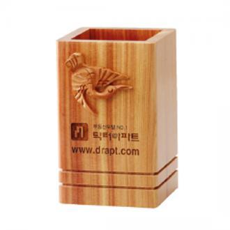 향나무학조각필통