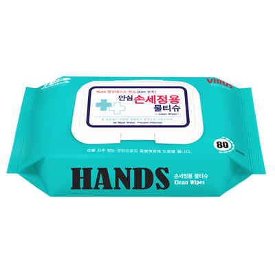 [항균]손세정물티슈 80매 (대형)