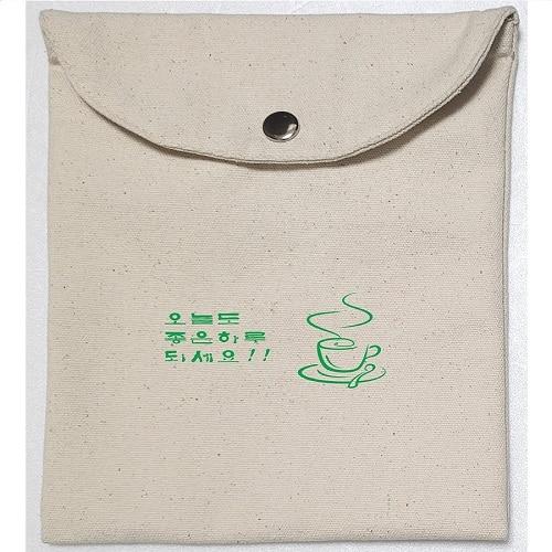 국산정품 똑딱이 단추 에코파우치 A형 - 대