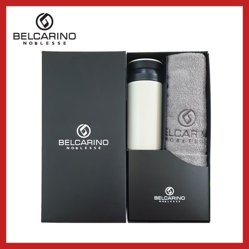 [벨카리노] 170g 면사타올+파우더 텀블러(350ml) 세트