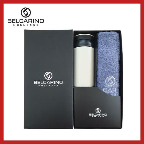 [벨카리노] 150g 면사타올+파우더 텀블러(350ml) 세트