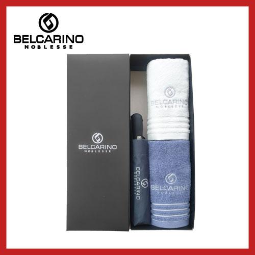 [벨카리노] 3단 60 완전자동 우산 + 150g 면사타올 2P 멀티세트