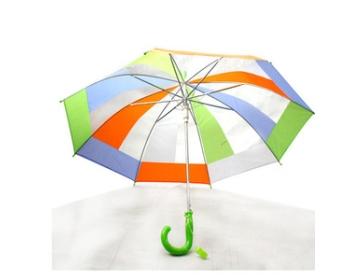 48 레인보우 호루라기 아동우산/투명우산
