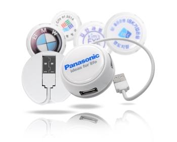 플라이토 원형 USB 허브 4포트