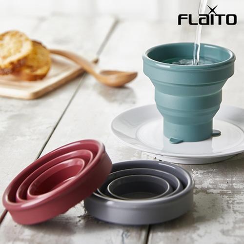 플라이토 실리콘 파스텔 휴대용 접이식컵