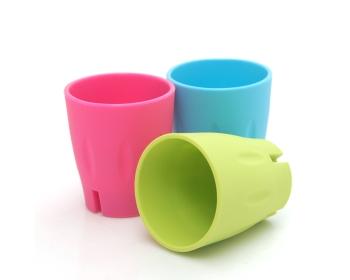 플라이토 실리콘 흡착 거꾸로 양치컵