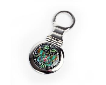 원형열쇠고리(당초나비)