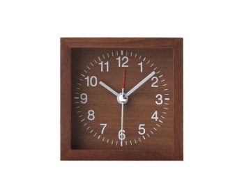 월넛 탁상시계(알람) jw-1503