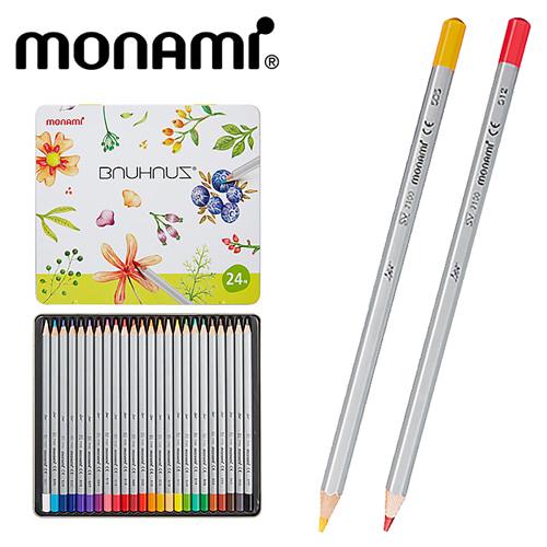모나미 바우하우스 색연필24색세트