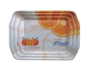쟁반,신형손잡이 오렌지 3p세트