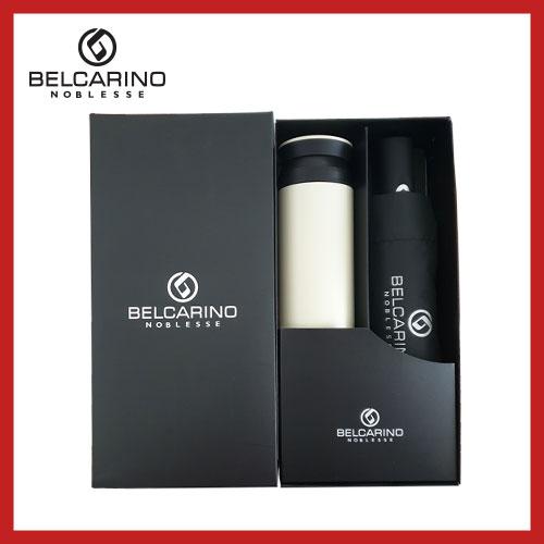 [벨카리노] 3단 7K 완전자동 우산+파우더 텀블러(350ml) 세트