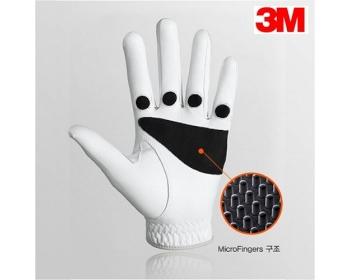 3M 마이크로핑거 반양피 오른손잡이용 남성 골프장갑