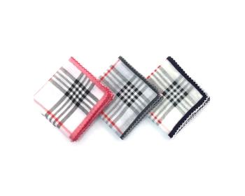 로얄 포인트체크 핀코트 손수건