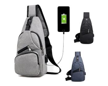 USB 힙색 A형 크로스 가방 배낭