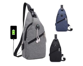 USB 힙색 B형 크로스 가방 배낭