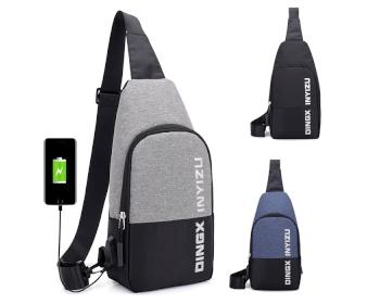 USB 힙색 C형 크로스 가방 배낭