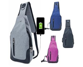 USB 힙색 F형 크로스 가방 배낭