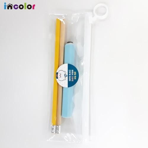 incolor 고주파문구세트_4(연필,지우개)