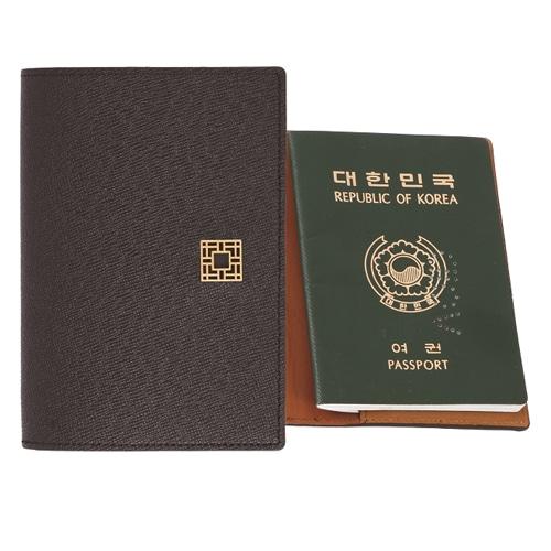 완자문소가죽투톤 여권지갑