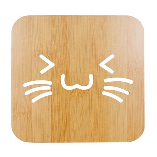 고양이 냄비받침대
