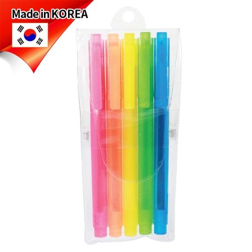 (국산)스타사각형광펜(반투) 5p세트