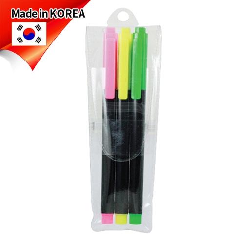 (국산)스타사각형광펜(불투) 3p세트