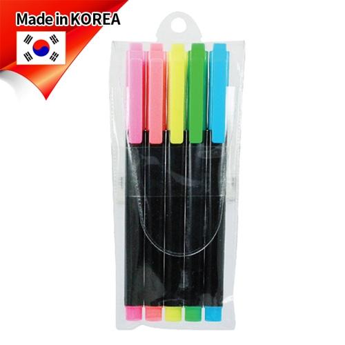 (국산)스타사각형광펜(불투)5p세트