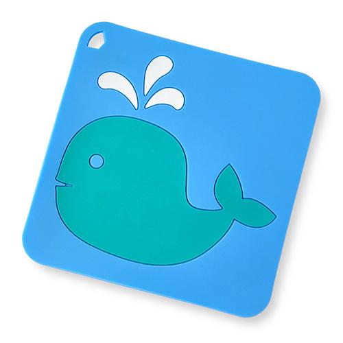 칼라 실리콘 냄비받침(고래)