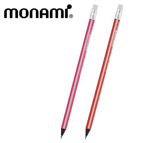 모나미-바우하우스 삼각지우개연필(HB,B,2B)
