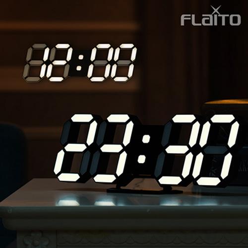 플라이토 LED무소음인테리어 탁상벽시계 [특판상품]