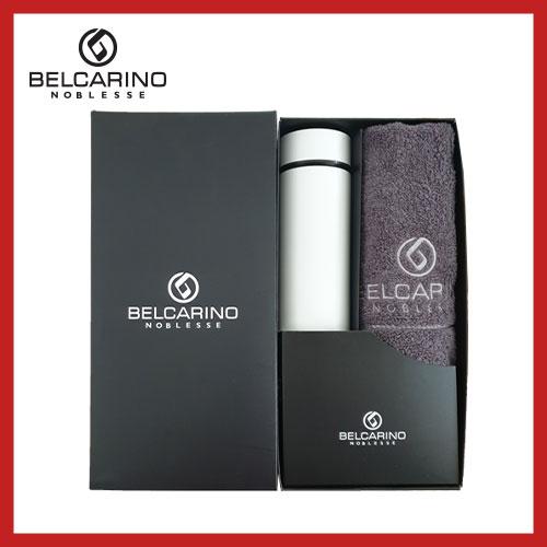 [벨카리노] 170g 면사타올+진공 텀블러(500ml) 세트