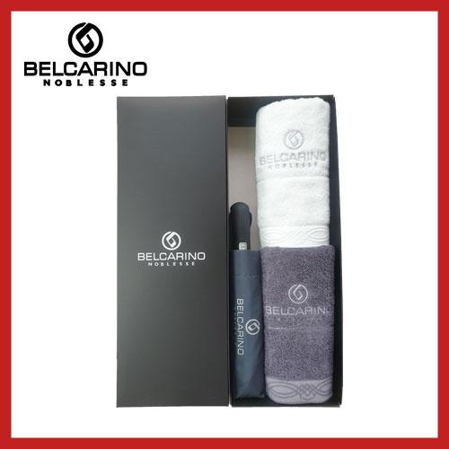 [벨카리노] 3단 60 완전자동 우산 + 170g 면사타올 2P 멀티세트