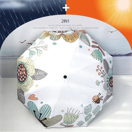 3단암막양우산-감성꽃밭