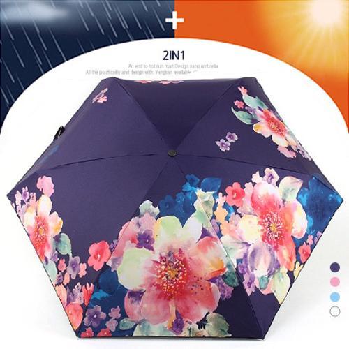 5단 수동 암막 양우산 - 플로랄향기