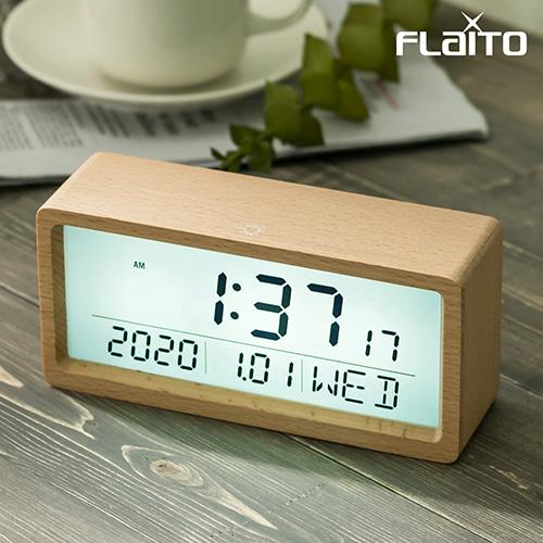 플라이토 우드 브렌치 LCD 탁상시계 [특판상품]