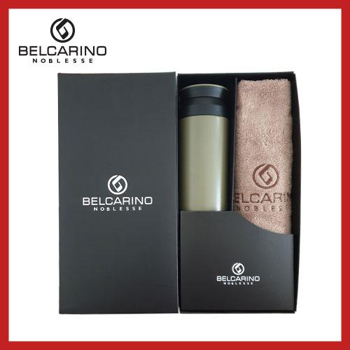 [벨카리노] 130g 면사타올+파우더 텀블러(350ml) 세트
