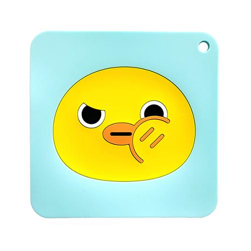 칼라 실리콘 냄비받침(병아리)