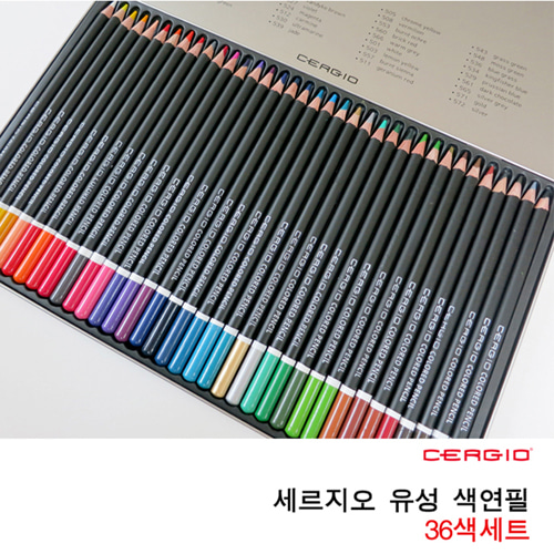 세르지오 유성 색연필 36색