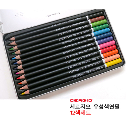 세르지오 유성 색연필 12색