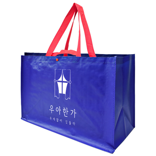 (특대형)블루 뉴 레트로 타포린시장가방 (53*30*38cm)