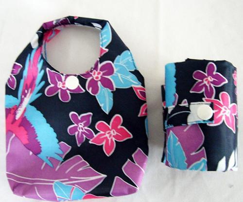 (BM-12)  주머니형 플라워 패션 폴리 장바구니 시장가방